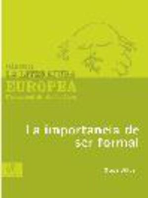 cover image of La importancia de ser formal